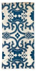 Blue Oriental Vintage Tile 02 Bath Towel