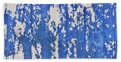 Blue Painted Metal Hand Towel