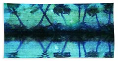 Blue Paradise Hand Towel by Holly Martinson