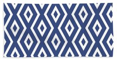 Blue Pattern Bath Towel