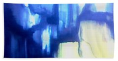 Bath Towel featuring the painting Blue Patterns by Denise Fulmer