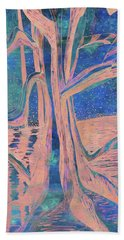 Blue-peach Dawn River Tree Hand Towel