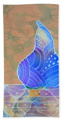 Blue Pear Bath Towel by Nancy Jolley