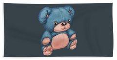 Blue Pink Bear Bath Towel