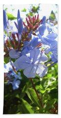 Hand Towel featuring the photograph Blue Plumbago by Mary Ellen Frazee