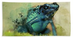 Blue Poisonous Frog Hand Towel