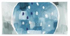 Blue Pomegranate- Art By Linda Woods Hand Towel