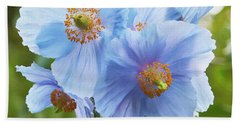 Blue Poppy Hand Towel