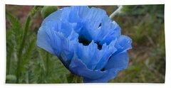 Blue Poppy Bath Towel