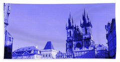 Blue Praha Hand Towel