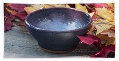 Blue Purple Bowl  Hand Towel