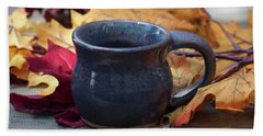 Blue Purple Mug Hand Towel