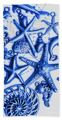 Blue Reef Abstract Hand Towel