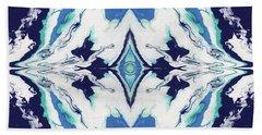 Blue Rhapsody Double- Art By Linda Woods Bath Towel