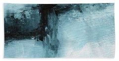 Blue Ridge- Abstract Art By Linda Woods Bath Towel