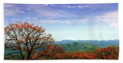 Hand Towel featuring the photograph Blue Ridge Blessing by Jessica Brawley