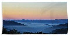 Blue Ridge Dawn Hand Towel by Dale R Carlson