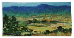 Blue Ridge Hand Towel by Gail Kent