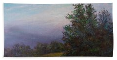 Hand Towel featuring the painting Blue Ridge Memory by Kathleen McDermott