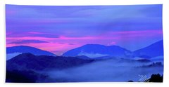 Blue Ridge Mountains Sunset Bath Towel