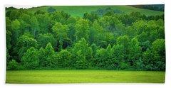 Blue Ridge Mountains Virginia   Hand Towel by Henri Irizarri