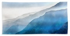Hand Towel featuring the painting Blue Ridge Mountians by Edward Fielding