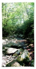 Hand Towel featuring the photograph Blue Ridge Parkway Stream by Meta Gatschenberger
