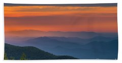 Blue Ridge Sunrise At Wintergreen  Bath Towel