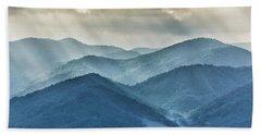 Blue Ridge Sunset Rays Hand Towel