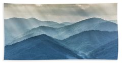 Blue Ridge Sunset Rays Bath Towel