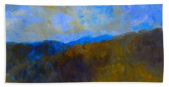 Bath Towel featuring the painting Blue Ridge Swirl by Kendall Kessler