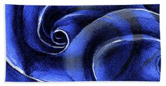 Blue Rose Bath Towel