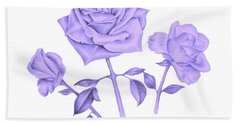 Blue Rose Hand Towel by Elizabeth Lock