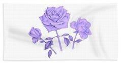 Blue Rose Hand Towel