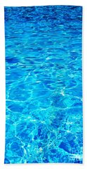 Blue Shadow Hand Towel by Ramona Matei