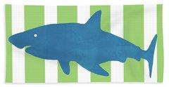 Blue Shark 1- Art By Linda Woods Hand Towel