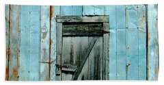 Blue Shed Door  Hwy 61 Mississippi Hand Towel