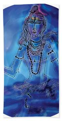 Blue Shiva  Bath Towel