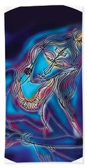 Blue Shiva Light Bath Towel