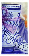 Blue Shoe, Painting Of A Painting Hand Towel