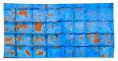 Blue Shutter And Rust Hand Towel