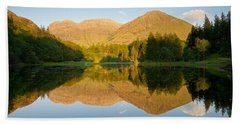 Blue Skies At Torren Lochan Hand Towel