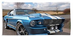 Blue Skies Cruising - 1967 Eleanor Mustang Hand Towel