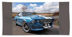 Blue Skies Cruising - 1967 Eleanor Mustang Hand Towel