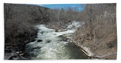 Blue Skies Over The Housatonic River Bath Towel