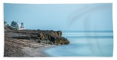Blue Sky And Blue Water Bath Towel by Tom Claud