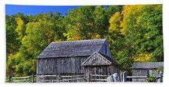 Blue Sky Autumn Barn Hand Towel