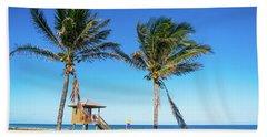 Blue Sky Palms Delray Beach Florida Hand Towel