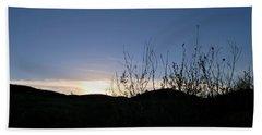 Blue Sky Silhouette Landscape Hand Towel