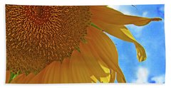 Blue Sky Sunflower Hand Towel